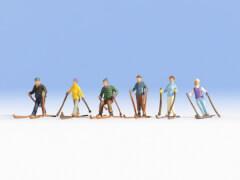 Noch 15828 H0-Skifahrer, 6 Figuren