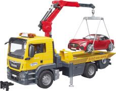 Bruder 03750 MAN TGS Abschlepp-LKW mit Roadster und L+S Module