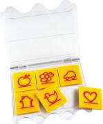 bambinoLÜK Lösungsgerät, mit sechs Symbol-Aufgabenplättchen, von 3 - 5 Jahren