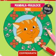 Mandala-Malblock: Tiere - 100% selbst gemacht, gebundenes Buch, 64 Seiten, ab 5 - 7 Jahre