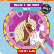 Mandala-Malblock: Ponys - 100% selbst gemacht, Taschenbuch, 64 Seiten, ab 5 - 7 Jahre